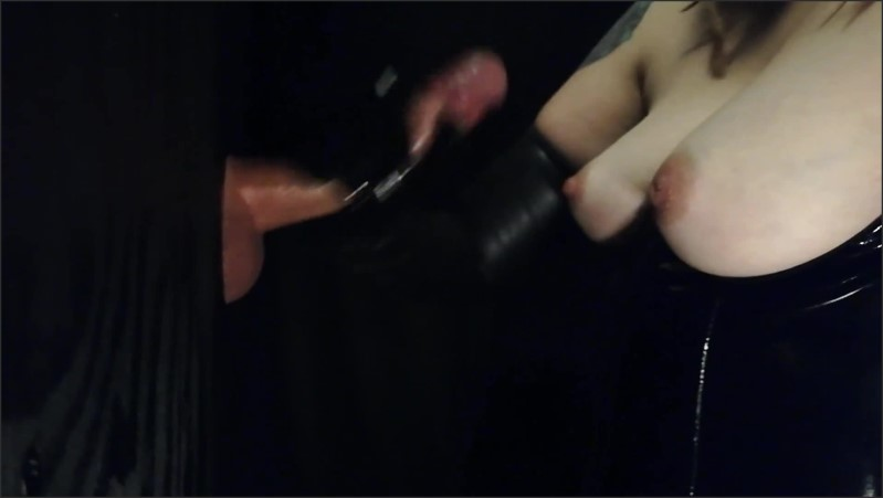 [Full HD] Black Latex Gloves At The Gloryhole  - Acoupleofhands - -00:09:20 | Handjob Gloryhole, Kink - 176,8 MB