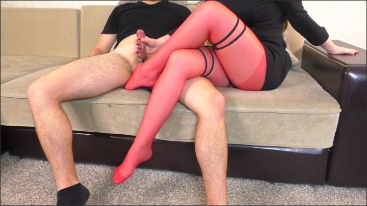 [Full HD] Teen Sch--L Teacher In Red Pantyhose Tease And Femdom Handjob After Sch--L - Alina_Rose - - 00:11:15 | Pantyhose Cum, Pantyhose Tease - 175,3 MB