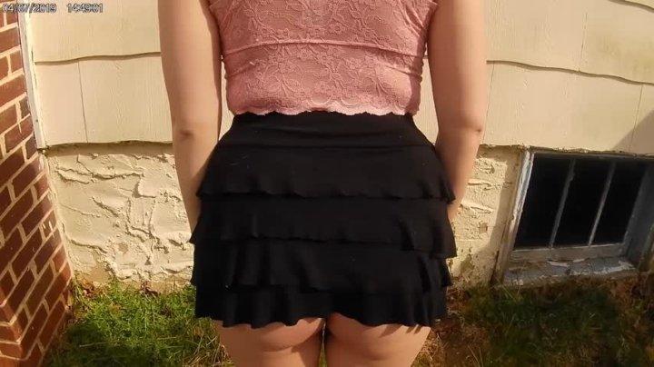[HD] Angelic Jada Topless Outdoor Smoking Upskirt Tease Hd - Angelic Jada - ManyVids - 00:08:30 | Outdoors, Big Tits - 165,6 MB