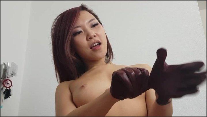 Leather-Gloves-Handjob-Deepthroat-Facial