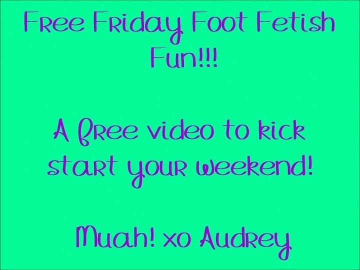 Audreysimone Free Foot Fetish Friday