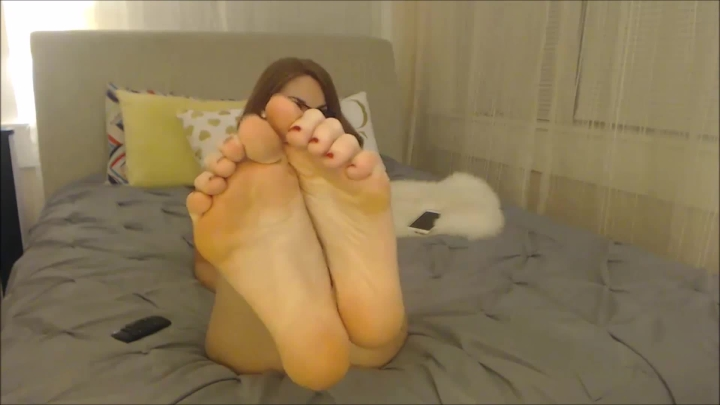 Foot Teasing Cherry Red Pedicure