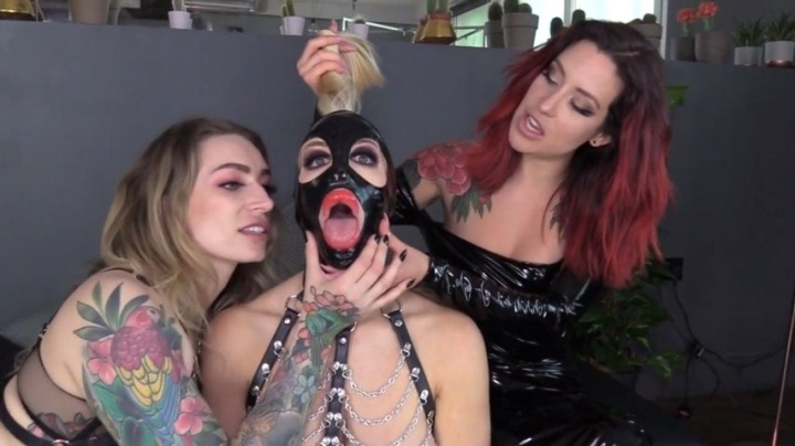 Ava Austen Using Our Real Life Latex Fuck Doll