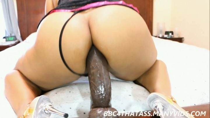 Ebony Big Booty Riding Dildo