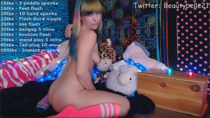 [Full HD] Cum Hard With Rainbow Hair Amateur Model Bellethebeauty20 Live On Cam - Bellethebeauty20 - -00:08:39 | Solo Female Orgasm, Live Cam Show, Exclusive - 220,7 MB