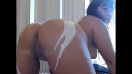 Carmita Bonita Lotion Booty Twerking And Bbc Dildo Suck