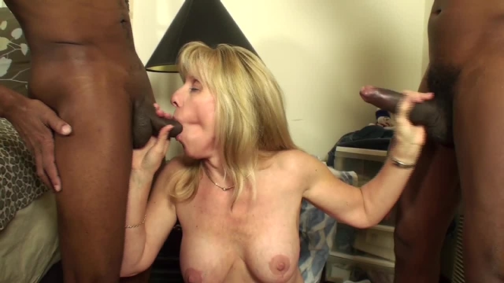 Carol Cox Mature Blonde Takes On Two 2 Bbcs