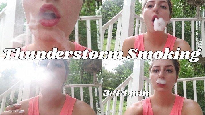 Cassandramayy Thunderstorm Smoking