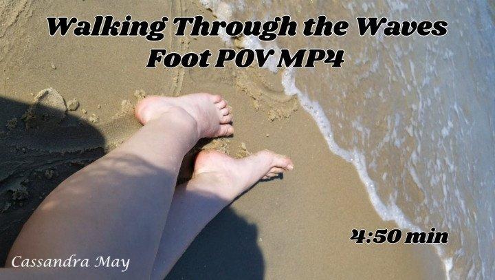 Cassandramayy Walking Through The Waves Foot Pov Mp4