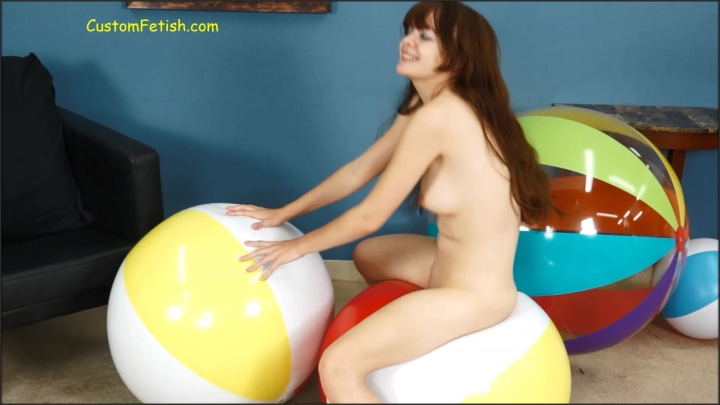 Custom Fetish Amy Nude Inflatable Beach Ball Bounce