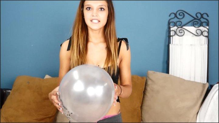 Custom Fetish Danielle Pops Silver Balloons