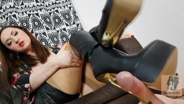 Dame Olga Boots Shoejob Amp Heeljob Nylon Footjob