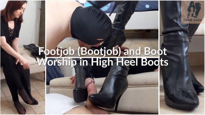 Dame Olga Footjob Bootjob And Boot Worship