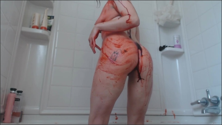 [Full HD] Damnedestcreature Bathing In Red - DamnedestCreature - ManyVids - 00:09:42 | Size - 298 MB