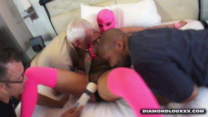 Diamond Lou Joslyn James Tickle Mask Groping Fetish
