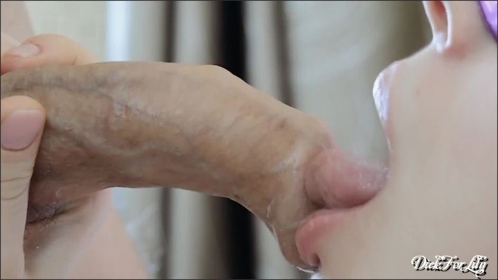 Close Up Sensual Lick Foreskin Huge Cum On Face Day 18 Dickforlily