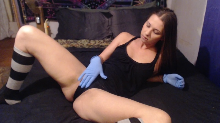 Easygoing Fingering With Latex Gloves