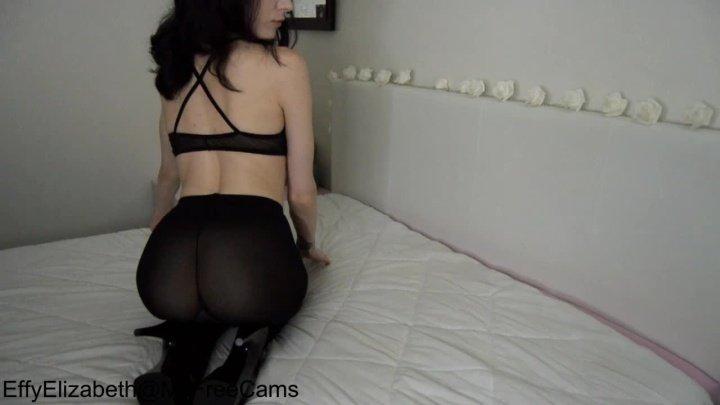 Effy Elizabeth Rough Solo Fucking In Pantyhose Amp Heels