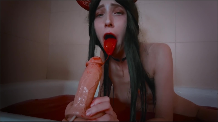 Succubus With Perfect Body Sucks Dick Of Sinner And Gets Huge Cumshot