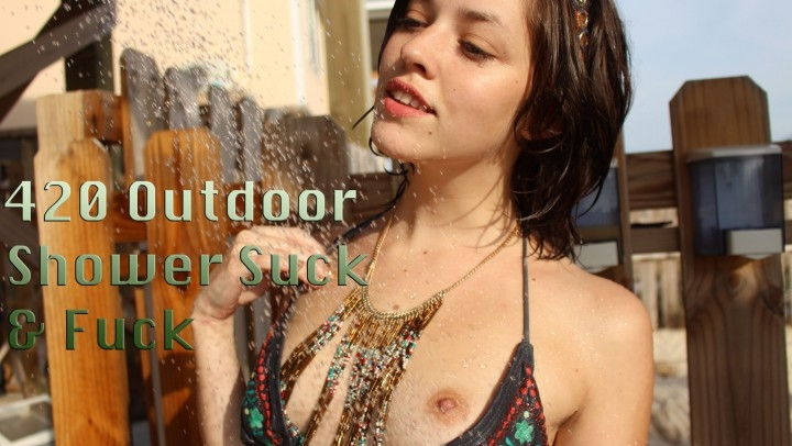 Emma Chase 420 Outdoor Shower Suck And Fuck