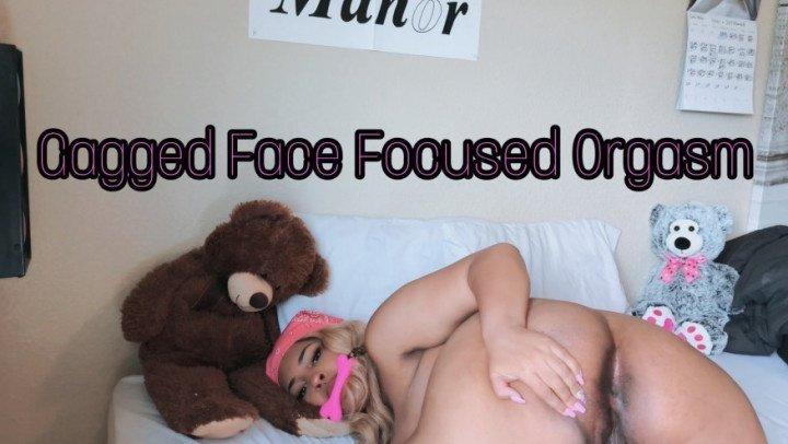 Emothot Gagged Face Focused Orgasm