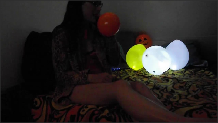 Erotic Eva Blowing Up Light Up Balloons 4 Halloween