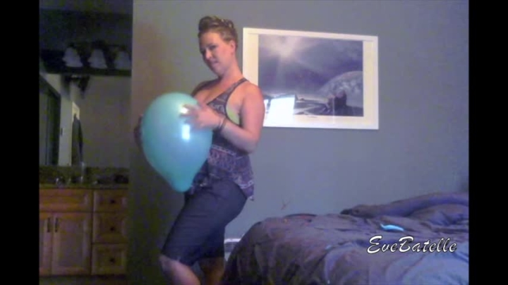 Eve Batelle Balloon Hug To Pop Giggling Blonde