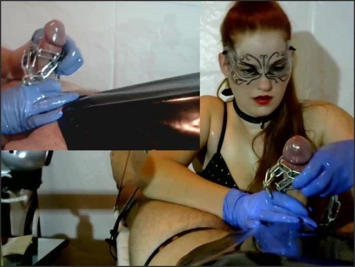 [HD] Femdom Cock Tease Cock Massage Latex Gloves Chain Pvc Brush - Fetishpixiedust - - 00:36:37 | Pip, Bondage - 355,4 MB