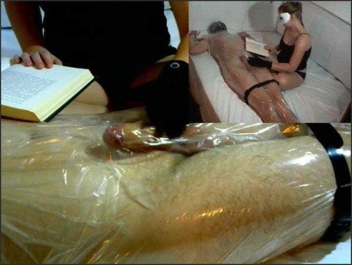 [HD] Femdom Handjob Tease In Plastic Wrap While Reading - Fetishpixiedust - - 00:16:03   Verified Amateurs, Bdsm - 157 MB