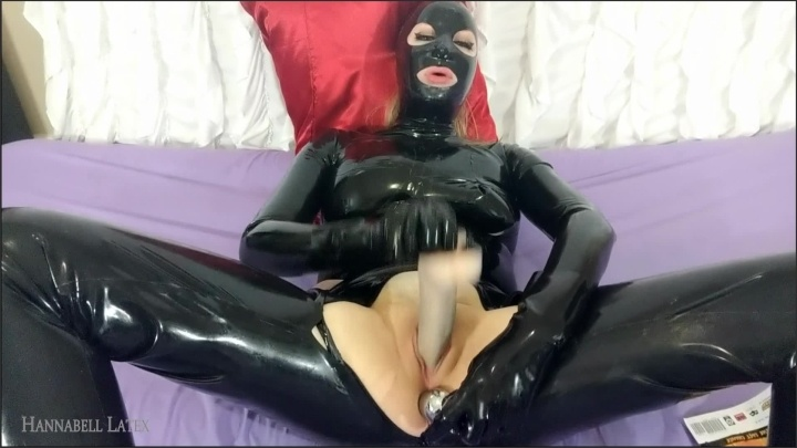 [Full HD] Cumming With Latex Glove Fingering My Biggest Buttplug Thickest Dildo - HannaBell Latex - - 00:08:26 | Orgasm Announcement, Latex Catsuit, Blonde - 511,4 MB