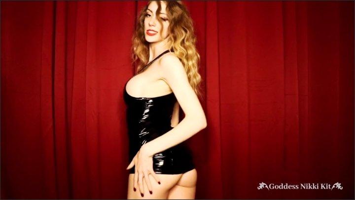 [Full HD] Femdom Chastity Cock Tease By Goddess Nikki Kit In A Pvc Dress - Goddess Nikki Kit - - 00:12:51 | Amateur, Tit Worship - 262 MB