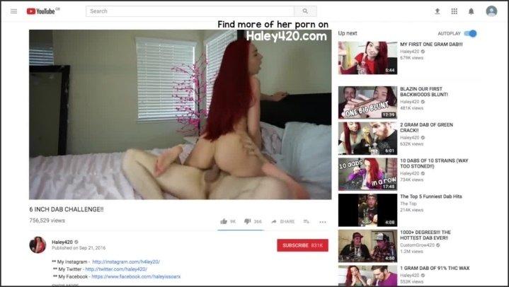 [HD] Youtuber Haley420 Accidentally Uploads Vid Of Her Getting Fucked - Haley420 - - 00:14:05 | Petite, Huge Cumshot - 91,9 MB