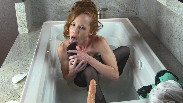 Heather Carolin Lingerie Dildo Bath W Foot Fetish Ending