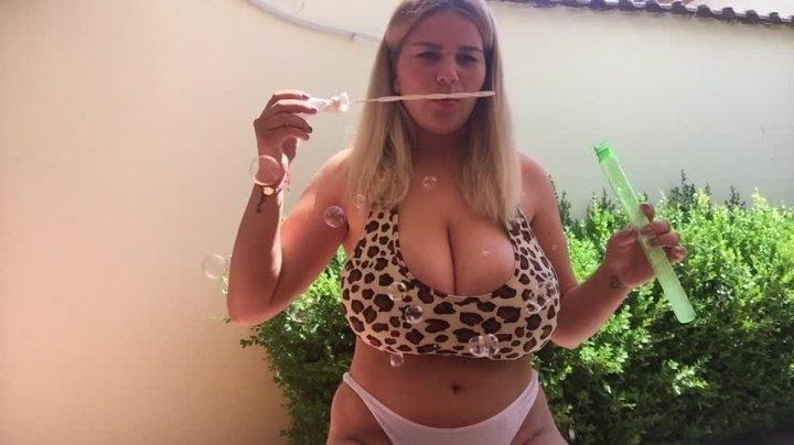 Hugeboobserin Bubbles On My Boobs