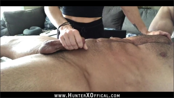 Hunterxofficial Sexy Milf Teravee Gives Hot Muscle Daddy Hunterxofficial Massage Bj Hj