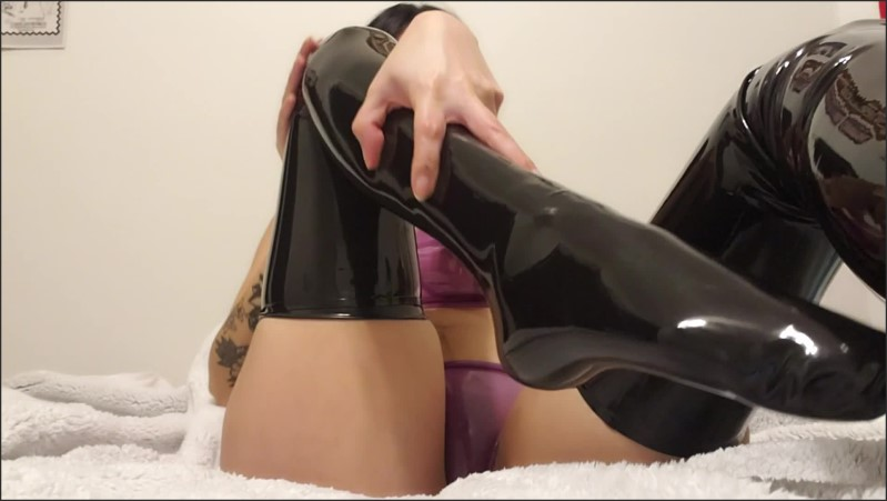 [Full HD] Latex Stockings Foot Worship  - Jade Lussuria - -00:06:32   Kink, Latex, Rubber - 365,9 MB