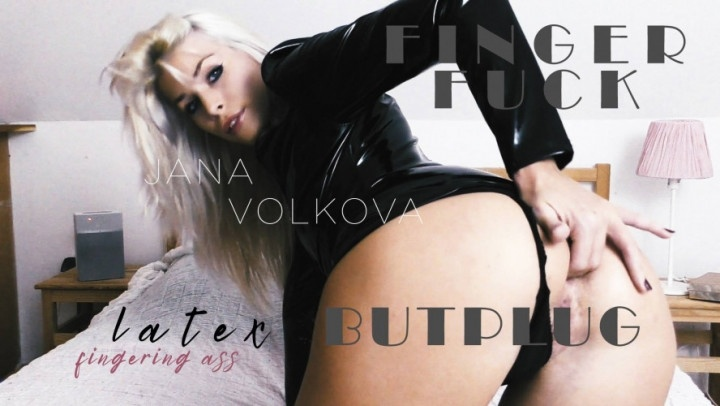 Janavolkova Jana Fingers Her Tight Butthole Hd