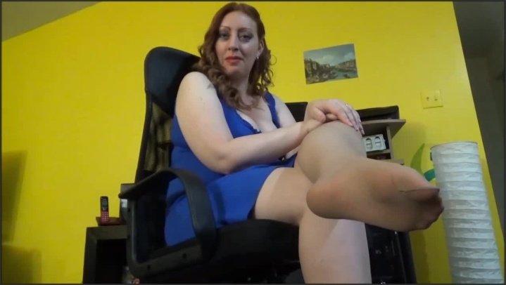 Josie6Girl Office Foot Slave