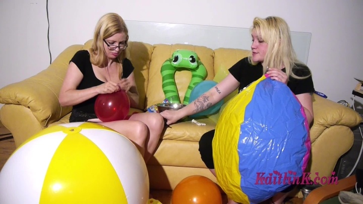 Kaitlink Blowing Balloons While Nola Blows Up A B