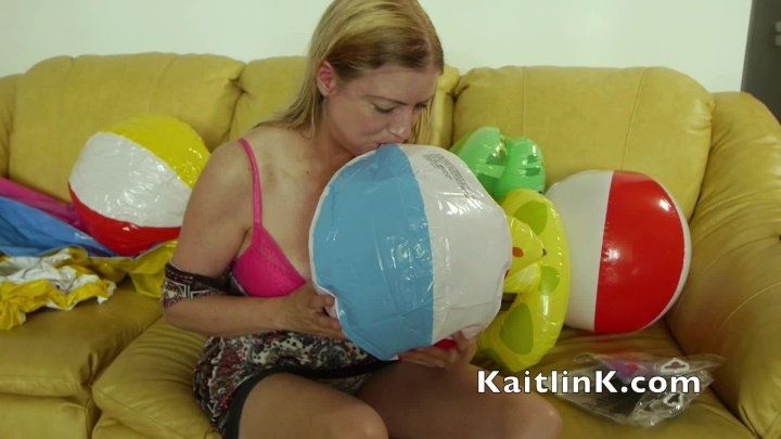 Kaitlink Blowing Up A Third Beach Ball