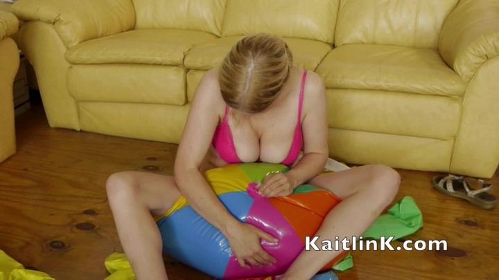 Kaitlink Deflating The Beach Balls By Squeezing