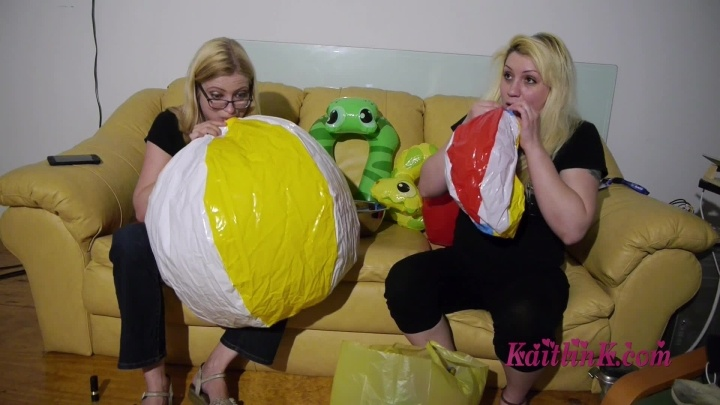 Kaitlink Kaitlin And Nola Blow Up Balloons