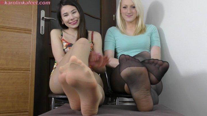 Karolinka Inhale Our Nyloned Feet Full Hd Joi