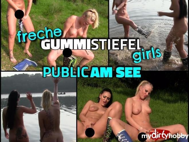 3593751-Freche-GUMMISTIEFEL-Girls-Public-Pissen-Und-Wichsen-Am-See