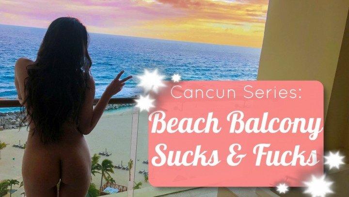 Littlesquirtles Beach Balcony Vacation Sucks Amp Fucks