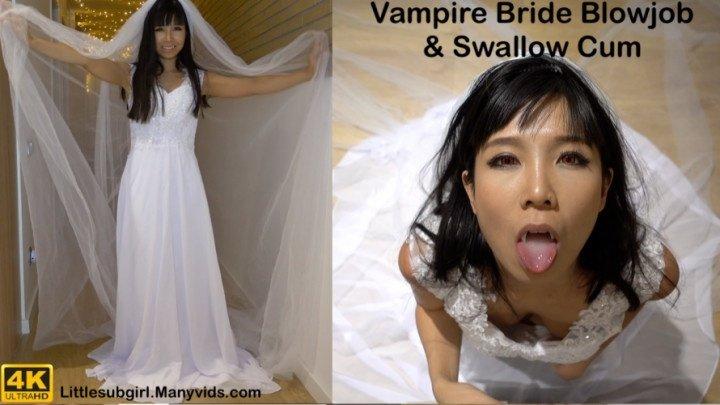 Littlesubgirl Vampire Bride Blowjob Amp Swallow Cum 4K