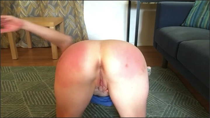 [HD] Ass Spanking Slave Girl Getting Off - LuckyLaney - - 00:08:00 | Blonde, Submissive - 79,4 MB