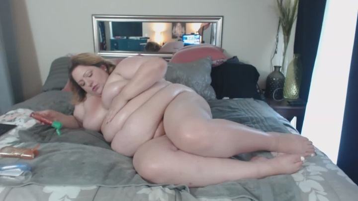 Lusciousrose69 Bbw Oiling My Fat Body