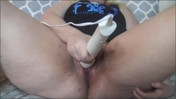 Nerdy Bbw Dildo Amp Hitachi Hard Squirting Orgasm