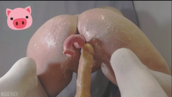 Maddie Peach Piggy Pet Gets Messy With Cake